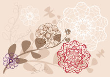 Kaleidoscopic floral pattern Stock Photo