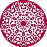 Kaleidoscopic floral pattern stock illustration