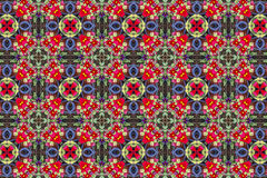 Kaleidoscopic floral pattern Royalty Free Stock Photos