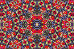 Kaleidoscopic floral pattern Royalty Free Stock Photo