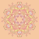 Kaleidoscopic floral pattern, mandala Stock Photography