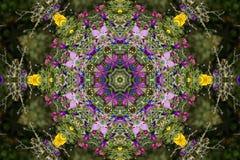 Kaleidoscopic flower design Stock Photo