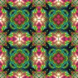 Kaleidoscopic flower park background. Splited colorful  picture into tiles Royalty Free Stock Photos