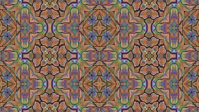 Kaleidoscopic generated seamless loop stock video footage