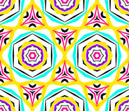 Kaleidoscopic Geometric Flower Pattern Stock Photo