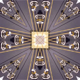 Kaleidoscopic guitar. Guitar head in kaleidoscope view Royalty Free Stock Photography