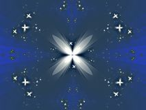 Star attraction with star. Kaleidoscopic image with central star feature being the main attraction of the picture vector illustration