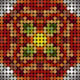 Kaleidoscopic low poly circle style vector mosaic. Background Royalty Free Stock Images