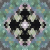 Kaleidoscopic low poly hexagon style vector mosaic Royalty Free Stock Photos