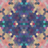 Kaleidoscopic low poly hexagon style vector mosaic. Background Royalty Free Stock Photography