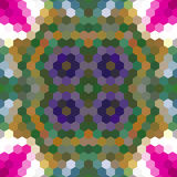 Kaleidoscopic low poly hexagon style vector mosaic. Background Stock Photography