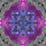 Kaleidoscopic low poly hexagon style vector mosaic. Background Royalty Free Stock Images