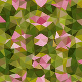 Kaleidoscopic low poly triangle style vector mosaic Stock Photography