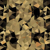 Kaleidoscopic low poly triangle style vector mosaic. Background Stock Photography