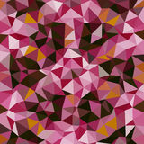 Kaleidoscopic low poly triangle style vector mosaic. Background Royalty Free Stock Photos