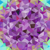 Kaleidoscopic low poly triangle style vector mosaic. Background Royalty Free Stock Image