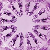 Kaleidoscopic Magenta Texture, spherical glass vertical macro closeup Royalty Free Stock Photos