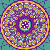 Mandala drawing sacred circle Royalty Free Stock Images