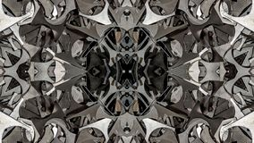 Kaleidoscopic metal abstract art design. Can be used as texture or as background and also for other. possibilities vector illustration