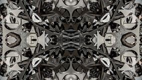 Kaleidoscopic metal abstract art design. Can be used as texture or as background and also for other. possibilities stock illustration