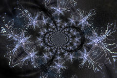 Kaleidoscopic Microphoto of Snow Crystals Royalty Free Stock Images