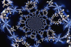 Kaleidoscopic Microphoto of Snow Crystals Royalty Free Stock Photos