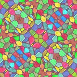 Kaleidoscopic mosaic seamless texture or background Royalty Free Stock Photo