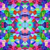 Kaleidoscopic mosaic seamless texture or background Royalty Free Stock Photo