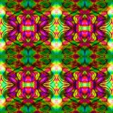 Kaleidoscopic mosaic seamless texture or background Stock Photography