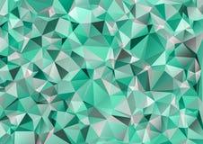Kaleidoscopic orient popular style. Green polygonal triangle Kaleidoscopic orient popular style Stock Photo