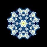 Kaleidoscopic ornamental pattern. On black background vector illustration