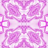 Kaleidoscopic ornate background. Seamless pattern in fuchsia Royalty Free Stock Image