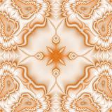 Kaleidoscopic ornate background. Seamless pattern in orange Stock Images
