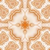 Kaleidoscopic ornate background. Seamless pattern in orange Stock Images