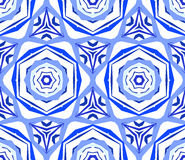 Kaleidoscopic Pattern Blue Flower Background Royalty Free Stock Photos