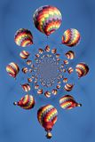 Kaleidoscopic Pattern of a Hot Air Balloon Stock Photo