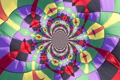 Kaleidoscopic Pattern of a Hot Air Balloon Stock Image
