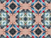 Kaleidoscopic pattern  texture Royalty Free Stock Images