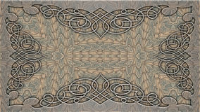 Kaleidoscopic patterns in beige tones, raster image for the desi Stock Photography