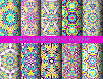 Kaleidoscopic patterns collection Royalty Free Stock Photography