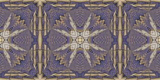 Kaleidoscopic patterns in purple tones, raster image for the des Stock Photography