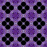 Kaleidoscopic purple flower background. Splited colorful  photo into tiles Stock Image