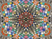 Kaleidoscopic Ribbon Display Stock Photo