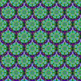Kaleidoscopic scales seamless pattern stock image
