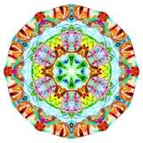 Kaleidoscopic Smoke Art. Kaleidoscope patterns created using photos of Incence smoke photographs manipulated and coloured using various technics to produce these Royalty Free Stock Image