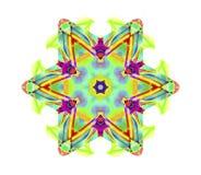 Kaleidoscopic Smoke Art. Kaleidoscope patterns created using photos of Incence smoke photographs manipulated and coloured using various technics to produce these Stock Images