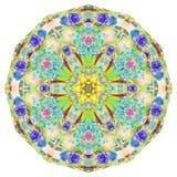 Kaleidoscopic Smoke Art. Kaleidoscope patterns created using photos of Incence smoke photographs manipulated and coloured using various technics to produce these Royalty Free Stock Photo