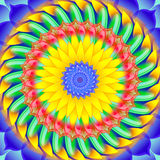 Kaleidoscopic spinning  sacred circle mandala Royalty Free Stock Image