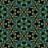 Kaleidoscopic tile. Abstract kaleidoscopic background as infinite seamless pattern Stock Images