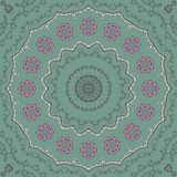 Kaleidoscopic tile. With arabic motives. Round star-formed mandala-like background element with hand drawn art Royalty Free Stock Photos